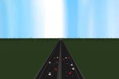 Schema: Ansicht einer klassischen Autobahnstrecke