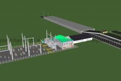 Schema: Anbindung der Energieautobahn an das vorhandene Stromnetz