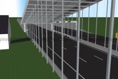 Schema: T-Konstruktion Anbindung an Tunnel