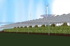 Schema: AGRO-Fläche, im Hintergrund Windkraft