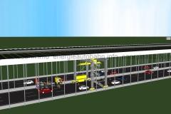 Schema: T-Konstruktion über Autobahn