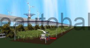 Schema: Moderne AGRI-Fläche (Vorbild: Fraunhofer ISE)