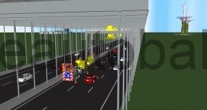Schema: Baumaßnahme während Fahrbetrieb